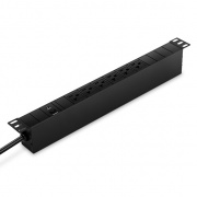 2.4kW Single-Phase 20A/120V Basic PDU, 6 NEMA 5-20R Outlets, NEMA 5-20P Plug, 10ftCord, 1U Rack-Mount