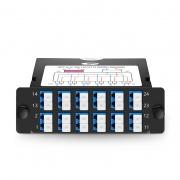 FHD Fiber TAP Cassette, OS2 Single Mode, 12x LC Duplex Live Ports, 2x MTP®-12 Male Live Ports, 2x MTP®-12 Male TAP Ports, 50/50 Split Ratio (Live/TAP), 10/40/100G