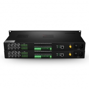 8-Kanäle HD-SDI Unidirektionales Video & 1 Forward Daten & 8 Forward Audio & 1000M Ethernet Glasfaser-Transmitter und Empfänger, FC, AC220V