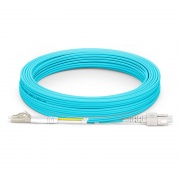 10m (33ft) LC UPC to SC UPC Duplex 3.0mm PVC (OFNR) OM4 Multimode Fiber Optic Patch Cable