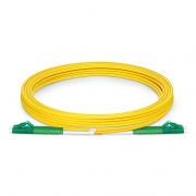 3m (10ft) LC APC to LC APC Duplex 3.0mm PVC(OFNR) 9/125 Single Mode Fiber Patch Cable