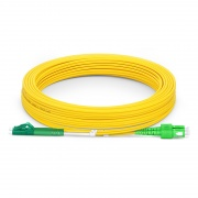 10m (33ft) LC APC to SC APC Duplex 3.0mm PVC (OFNR) 9/125 Single Mode Fiber Patch Cable