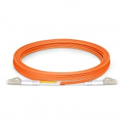 3m (10ft) LC UPC to LC UPC Duplex 3.0mm PVC (OFNR) OM1 Multimode Fiber Optic Patch Cable