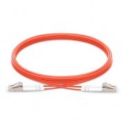 30m (98ft) LC UPC to LC UPC Duplex 3.0mm PVC(OFNR) OM1 Multimode Fiber Optic Patch Cable