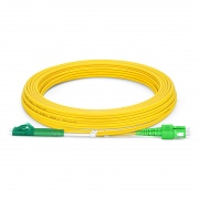 LC-SC APC Duplex Single Mode Fibre Patch Lead 3.0mm PVC (OFNR) 7m