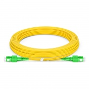 7m (23ft) SC APC to SC APC Duplex 3.0mm PVC(OFNR) 9/125 Single Mode Fiber Patch Cable