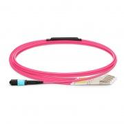 Cable breakout Elite Senko MPO hembra a 4 LC UPC dúplex 8 fibras tipo B LSZH OM4 (OM3) 50/125 multimodo, magenta, 2m
