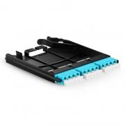3x LC Quad, 12 Fibers OM4 Multimode FHX Fiber Adapter Panel