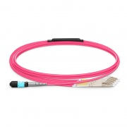 2m (7ft) MTP Female to 4 LC UPC Duplex 8 Fibers Type B Plenum (OFNP) OM4 50/125 Multimode Elite Breakout Cable, Magenta