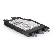 LWL-Konversionsassette der FHX-Serie (24 Fasern, 3x MTP-8 auf 2x MTP-12, OM4 Multimode)