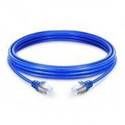 10m Cat6a Ethernet Patch Cable - Snagless Shielded (SFTP) PVC, Blue