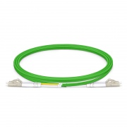 Cable/latiguillo/jumper de fibra óptica de banda ancha LC/UPC a LC/UPC 1m OM5 50/125 dúplex multimodo PVC(OFNR)
