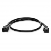 2ft (0.6m) IEC320 C14 to IEC320 C13 16AWG 250V/13A Power Extension Cord, Black