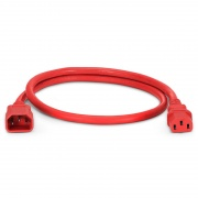 2ft (0.6m) IEC320 C14 to IEC320 C13 14AWG 250V/15A Power Extension Cord, Red