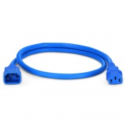 2ft (0.6m) IEC320 C14 to IEC320 C13 14AWG 250V/15A Power Extension Cord, Blue
