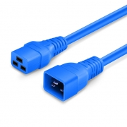 1ft (0.3m) IEC320 C20 to IEC320 C19 12AWG 250V/20A Power Extension Cord, Blue