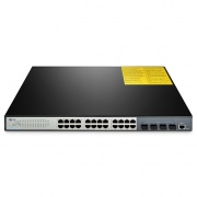 Switch/Commutateur Géré, 24 Ports 10/100/1000BASE-T Gigabit, 4 Uplinks SFP+ 10GE, S3700-24T4S