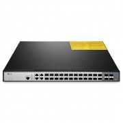 S3800-24F4S 24-Port Gigabit stapelbarer SFP Managed Switch mit 4 Combo SFP und 4 10GE SFP+ Uplinks, Dual Power