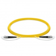 Customized LC/SC/FC/ST Simplex Slow Axis Single Mode PVC (OFNR) 3.0mm Polarization Maintaining Fiber Optic Patch Cable