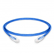 Cable de Red Ethernet LAN RJ45 UTP Cat6 0.9m 10/100/1000 Mbps hasta 10 Gbps PVC CM Azul
