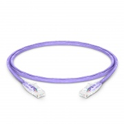 0.9m Cat6 Ethernet Patch Cable - Snagless, Unshielded (UTP) PVC CM , Purple