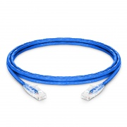 Cable de Red Ethernet LAN RJ45 UTP Cat6 2.1m 10/100/1000 Mbps hasta 10 Gbps PVC CM Azul