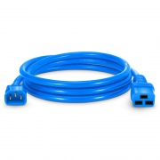 4ft (1.2m) IEC320 C14 to IEC320 C19 14AWG 250V/15A Power Cord, Blue