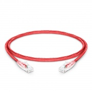 0.9m Cat5e Ethernet Patch Cable - Snagless, Unshielded (UTP) PVC CM, Red