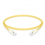 0.9m Cat5e Ethernet Patch Cable - Snagless, Unshielded (UTP) PVC CM, Yellow