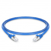 Cat7 Patchkabel, Snagless Abgeschirmtes SFTP RJ45 LAN Kabel, PVC CMX, Blau, 3ft (0,9m)