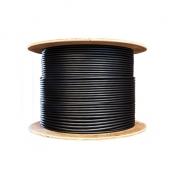 2km 24 fibras monomodo 9/125 OS2, LSZH, blindaje simple doble chaqueta, cable de distribución con tubo ajustado para interiores/exteriores