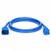 IEC320 C14 to C13 Power Cord, 18AWG, 250V/10A, Blue-6ft (1.8m)