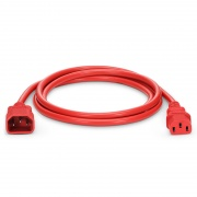 6ft (1.8m) IEC320 C14 to IEC320 C13 18AWG 250V/10A Power Extension Cord, Red