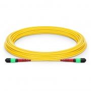 Cable Troncal de Fibra Óptica OS2 9/125 Monomodo MTP - MTP 24 Fibras CPAK-10x10G-LR, tipo A (TIA-568) 10m, élite, Plenum (OFNP) - amarillo