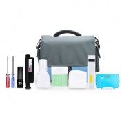 Fiber Optic Cleaning Kit with 1.25mm&2.5mm Hand Held Fiber Microscope
