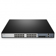 S3900-24T4S, 24-Port Gigabit Ethernet L2+ Fully Managed Switch, 24 x Gigabit RJ45, with 4 x 10Gb SFP+ Uplinks, Stackable Switch, Broadcom Chip, Fanless