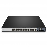 S3900-24F4S, 20-Port Gigabit Ethernet L2+ Fully Managed Switch, 20 x Gigabit SFP, 4 x Gigabit Combo, with 4 x 10Gb SFP+ Uplinks, Stackable Switch, Broadcom Chip