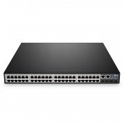 S3900-48T4S L2+ Stackable Managed Ethernet-Switch, 48 10/100/1000BASE-T Gigabit-Ports, 4 10Gb SFP+ Uplinks