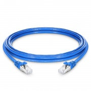 10ft (3m) Cat7 Snagless Shielded (SFTP) PVC CMX Ethernet Network Patch Cable, Blue