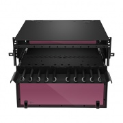 FHD High Density 4U Rack Mount Enclosure Unloaded, Sliding Drawer, Holds up to 12x FHD Cassettes or Panels, 432 Fibers (LC)