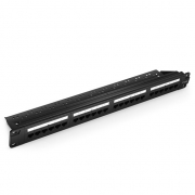 24-Port Cat6 Unshielded 110 Punch Down Patch Panel, 1U Rack Mount