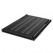 1U Adjustable Sliding Server Rack Shelf with 650mm-950mm Mounting Depth and 132.28lbs (60kg) Capacity
