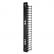 Vertical Cable Manager for 42U GR800-Series Network & Server Cabinet, Single Sided with 2 Hinged Cover