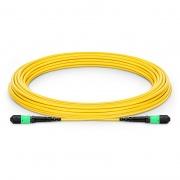 Cable troncal MTP 12 fibras OS2 monomodo Plenum personalizado, tipo A, élite, hembra, amarillo