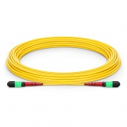 Cable troncal MTP 24 fibras OS2 monomodo Plenum personalizado, tipo A, hembra, élite, amarillo