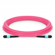 Customized Length Senko MPO Female 12 Fibers Type A LSZH OM4 50/125 Multimode Elite Trunk Cable, Magenta