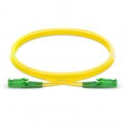 Cable/latiguillo/jumper de fibra óptica OS2 monomodo LSH APC a LSH APC dúplex PVC (OFNR) 2.0mm longitud personalizada