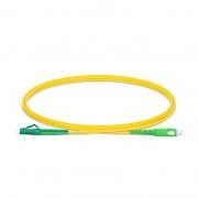 Customised Length LC-SC APC Simplex Single Mode Fibre Patch Lead 2.0mm PVC(OFNR)