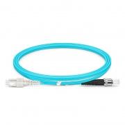 Cable/latiguillo/jumper de fibra óptica OM4 multimodo SC UPC a ST UPC dúplex PVC (OFNR) 2.0mm longitud personalizada
