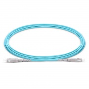 Cable de fibra óptica OM3 multimodo SC UPC a SC UPC símplex 2.0mm PVC(OFNR), longitud personalizada